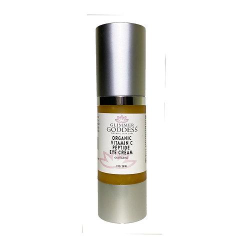 Glimmer Goddess Organic Vitamin C Peptide Skin Brightening Eye Cream