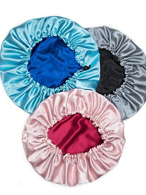 Sugacurls Reversible Satin Sleeping Bonnet w/Drawstring