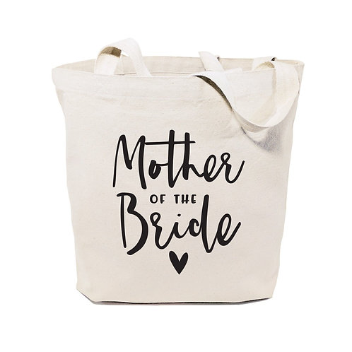 Mother of the Bride Wedding Cotton Canvas Tote Bag