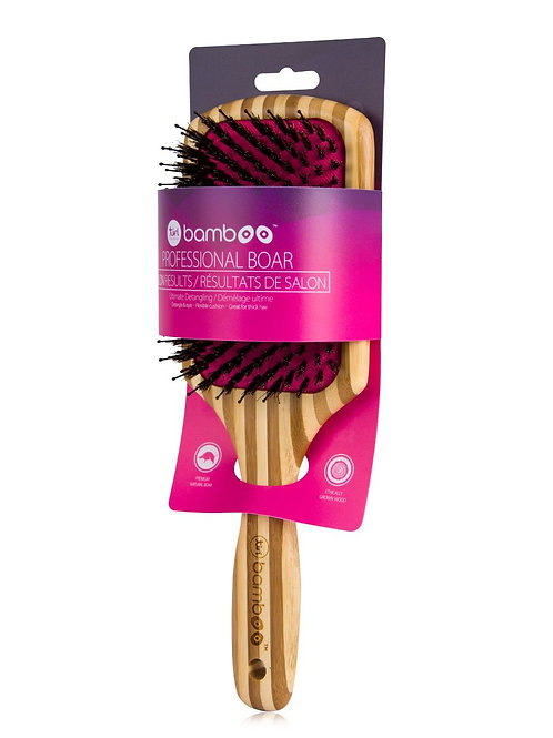 TiriPro Detangling Bamboo XL Paddle Brush with Boar Bristles