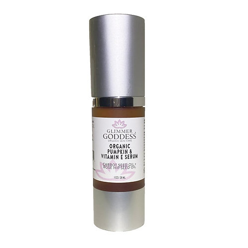 Glimmer Goddess Organic Pumpkin + Vitamin E Anti-Oxidant Anti Aging Face Serum