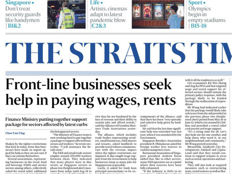 22 July 2021, The Straits Times