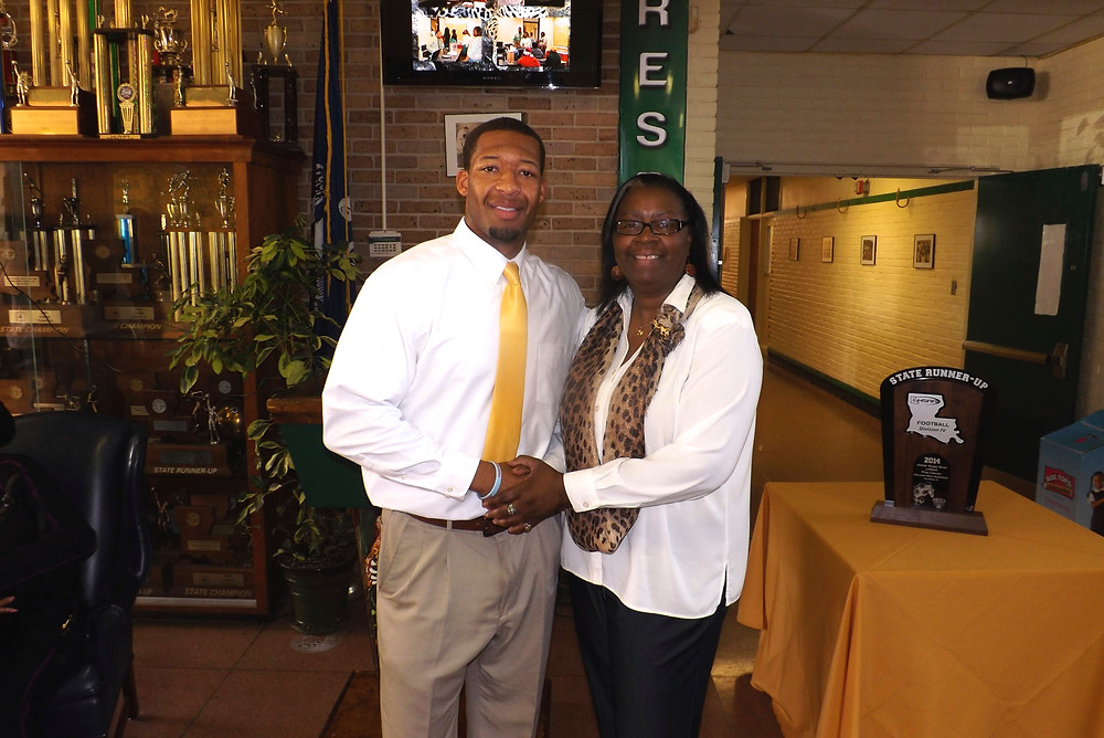 Marcus Randall and Ms. Marshall Southern Lab