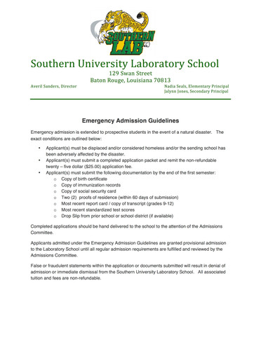 Southern University Laboratory School again answers the call!