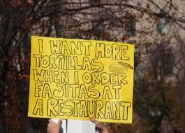 Mas tortillas, por favor.