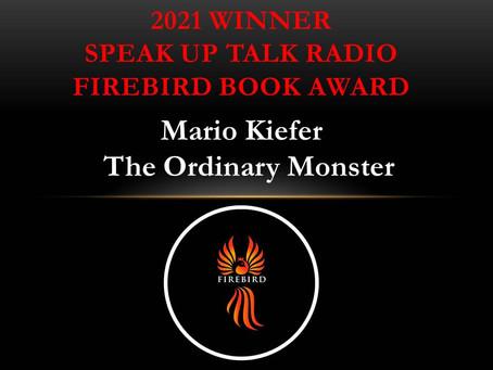 The Ordinary Monster Firebird Book Award Winner!