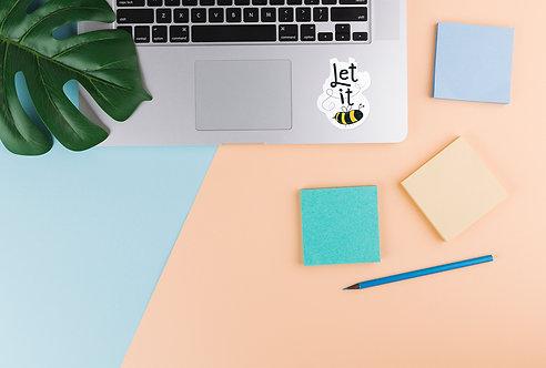 Let It Bee Laptop Sticker