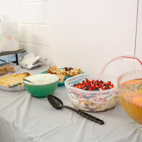 Luau Themed Dessert Table