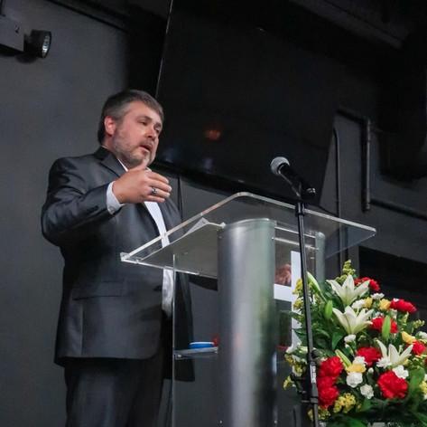 Pastor Tom Preaching at Memorial Service