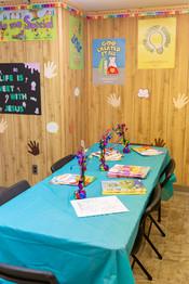 Children's Sunday School Craft Table