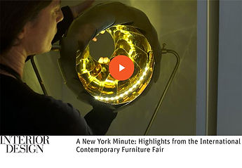 lightexture featured in INTERIOR DESIGN Magazine ICFF video roundup