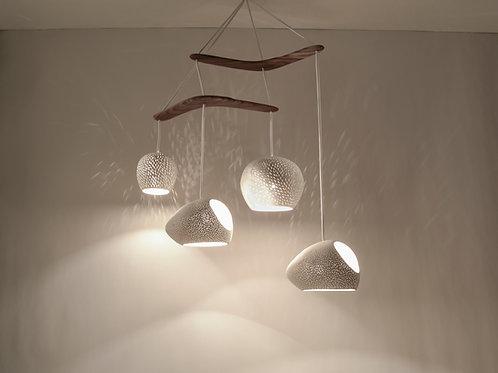 CLAYLIGHT BOOMERANG LARGE : Ceramic Chandelier | Unique Light Fixture | Pendant