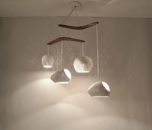 Claylight boomerang large designer lighting ceramic chandelier aloadofball Choice Image
