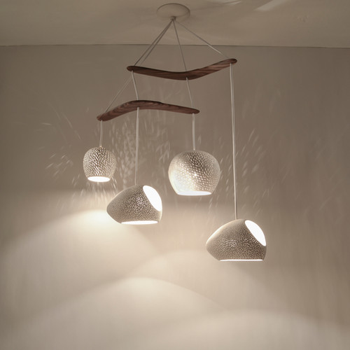 Lightexture contemporary lighting chandeliers claylight boomerang large designer lighting ceramic chandelier aloadofball Image collections