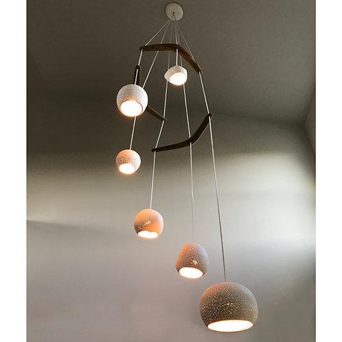 CLAYLIGHT BOOMERANG HEX : Chandelier Lighting | Ceramic Light Fixture