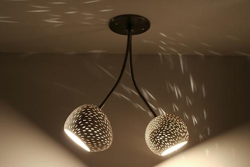 DOUBLE-HEADED CLAYLIGHT : Ceiling Lamp | Ceramic Light Fixture | Minimalist