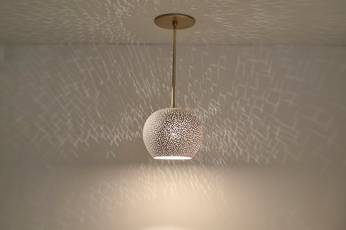 CLAYLIGHT PENDANT with Brass Rod : Ceiling Fixture | Ceramic Lighting