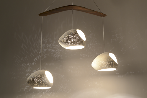 CLAYLIGHT DOUBLE CUT BOOMERANG : On Sale 25% Off | Ceramic Chandelier Lighting