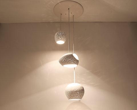 Claylight 3 Cer On Triple Pendant Light Led Lighting Chandelier