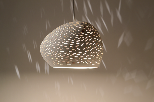 "CLAYLIGHT 6"" : Modern Ceramic Pendant Light | Minimalist Lighting | Unique Light"