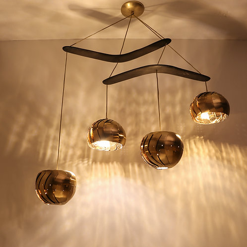 IRIS CHANDELIER : Brass Light Fixture | Adjustable LED Lighting