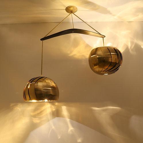 IRIS BALANCE : Chandelier Lighting | UL Listed | Brass Light Fixture
