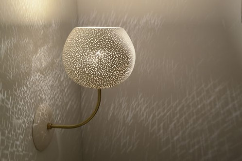 LARGE CLAYLIGHT SCONCE (Hard-Wired Model) : On Sale | Ceramic Lighting