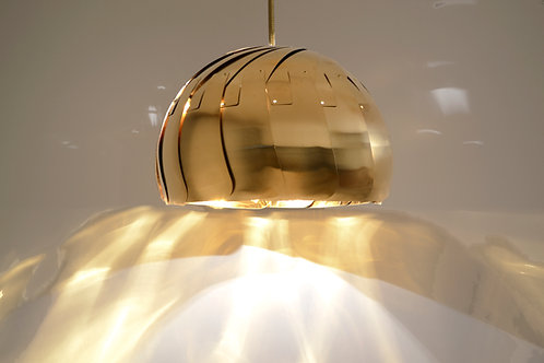 LARGE IRIS PENDANT : Brass Pendant Light | Contemporary Lighting