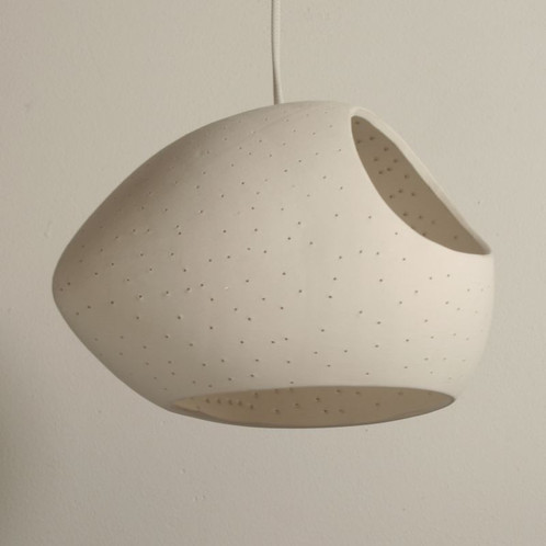 claylight double cut - designer ceramic pendant light, medium size