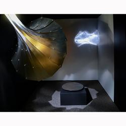 Moon record light install Yael Erel
