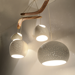 Lightexture contemporary lighting chandeliers claylight boomerang extra large designer lighting ceramic chandelier aloadofball Images