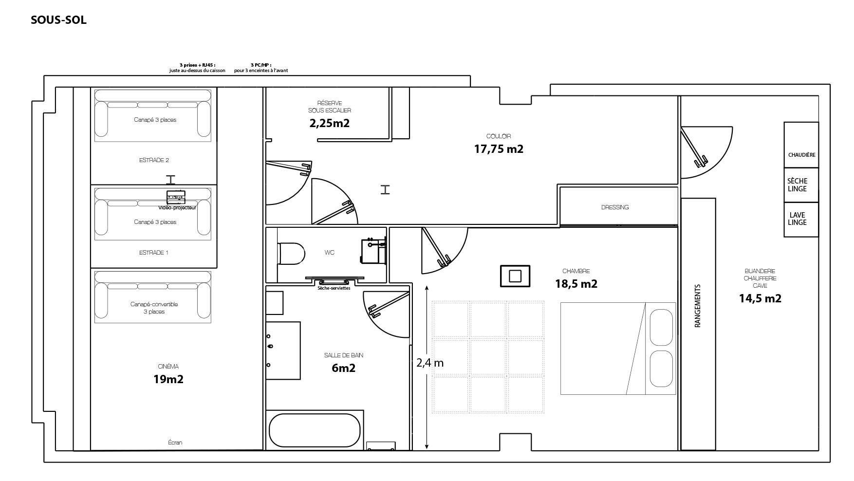 Plan du projet - sous-sol
