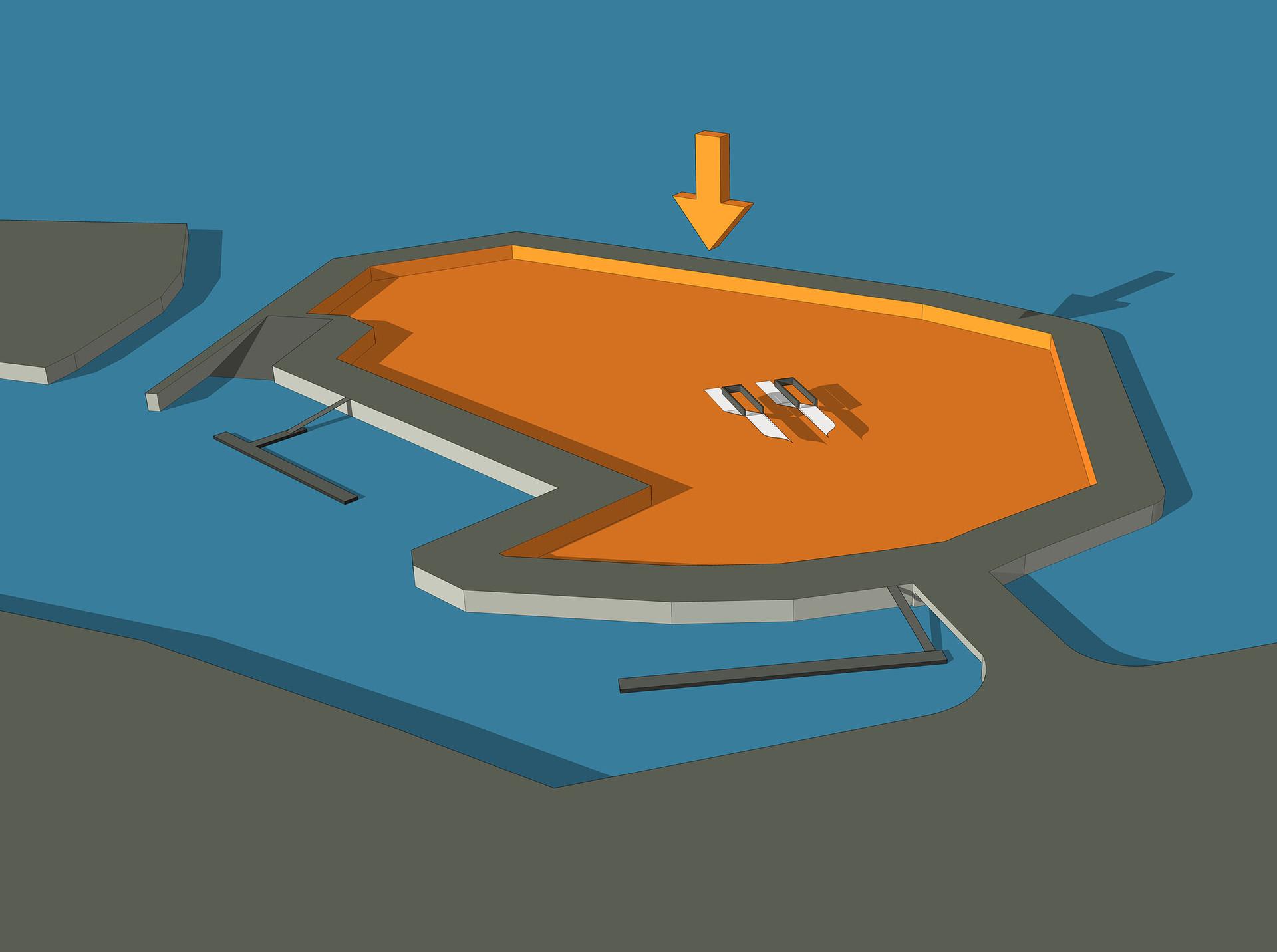 Décaisser l'îlot