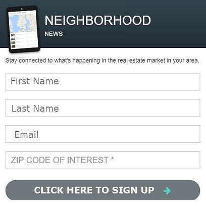 sign up for your Local Real Estate Report