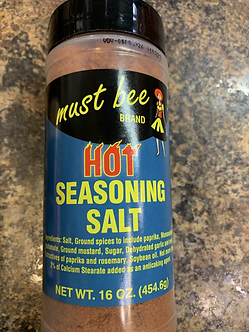 Hot seasoning salt