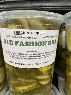 32 ounce old fashion dill Pickles made in Michigan