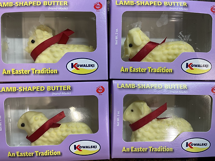 Butter lambs Easter tradition