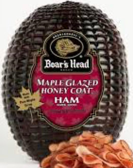 maple glazed honey coat ham