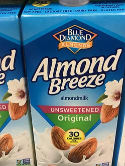 Almond milk 1/2 gallon