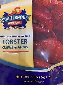 Lobster claws and arms 2lb bag