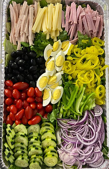 Full sheet Chef salad feeds 25 to 30 people