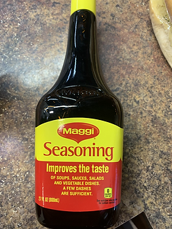 Maggi Seasoning improves the taste 27oz