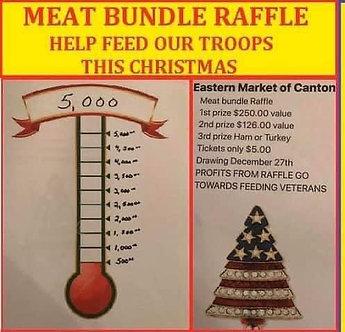 Raffle tickets for feeding the Veterans &needy family's