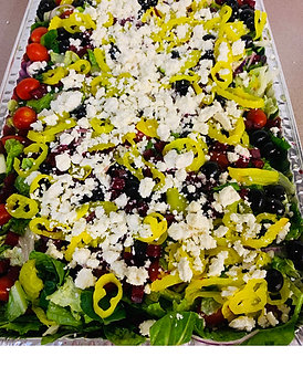 Full sheet Greek salad feeds  25 to 30 People