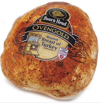 Oven gold turkey breast per lb
