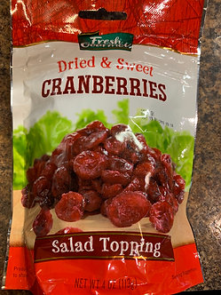 Dried sweet cranberries 4 ounces