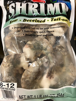8 to 12 raw Colossal shrimp per bag