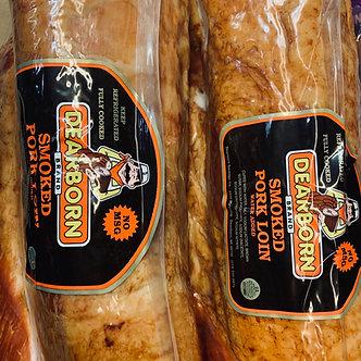 Deerborn brand smoked pork chops per lb