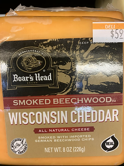 Wisconsin cheddar Smoked each