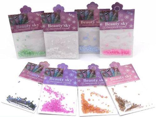 DECO Cristales y decoraciones para uñas. Diferentes formas y colores